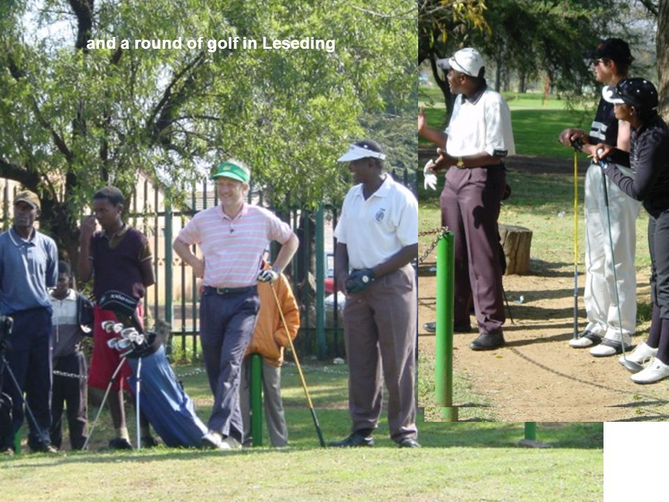 and a round of golf in Leseding
