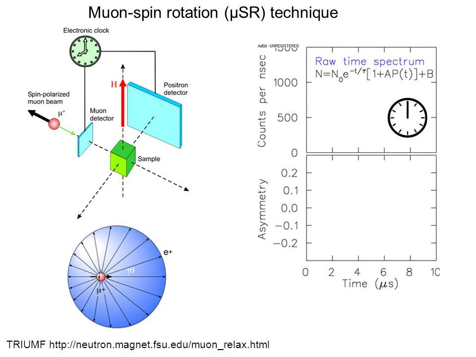 TRIUMF http://neutron.magnet.fsu.edu/muon_relax.html Muon-spin rotation (μSR) technique