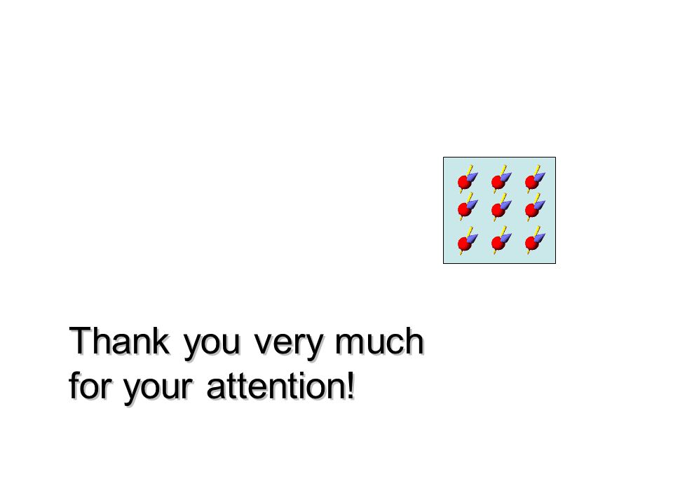 Thank you very much for your attention! Thank you very much for your attention!