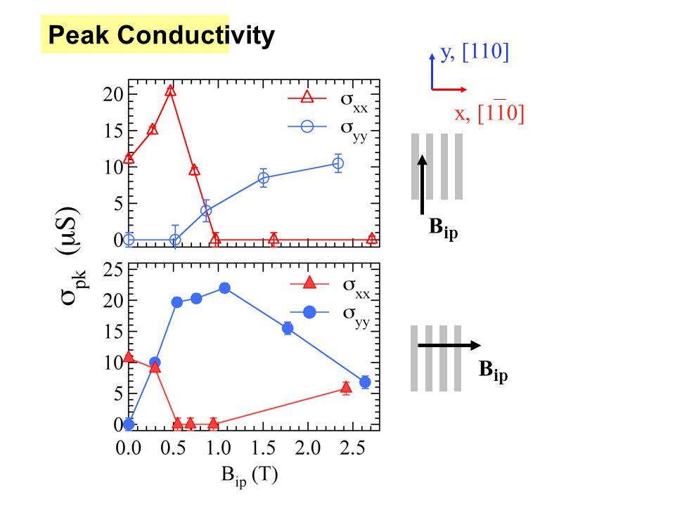Peak Conductivity B ip y, [110] x, [110]