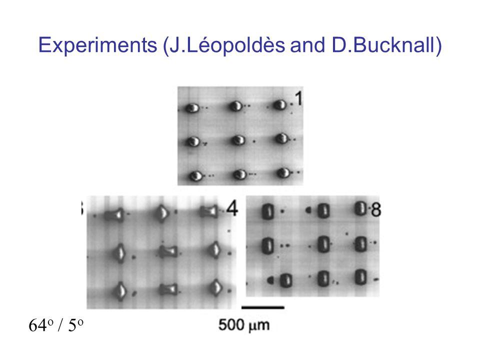 Experiments (J.Léopoldès and D.Bucknall) 64 o / 5 o