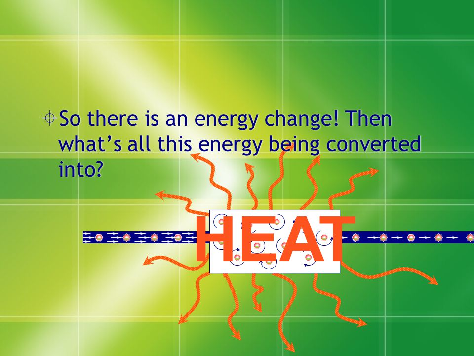 So there is an energy change. Then what's all this energy being converted into.