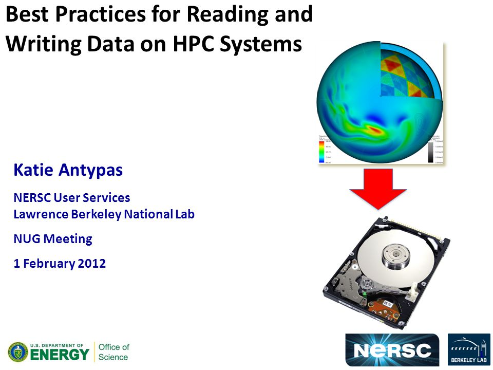 Katie Antypas NERSC User Services Lawrence Berkeley National Lab NUG Meeting 1 February 2012 Best Practices for Reading and Writing Data on HPC Systems 1