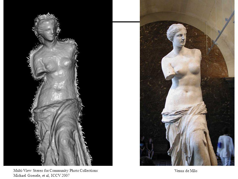 Multi-View Stereo for Community Photo Collections Michael Goesele, et al, ICCV 2007 Venus de Milo