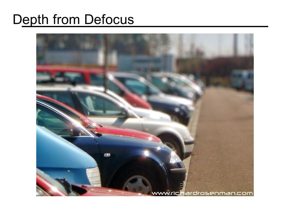 Depth from Defocus