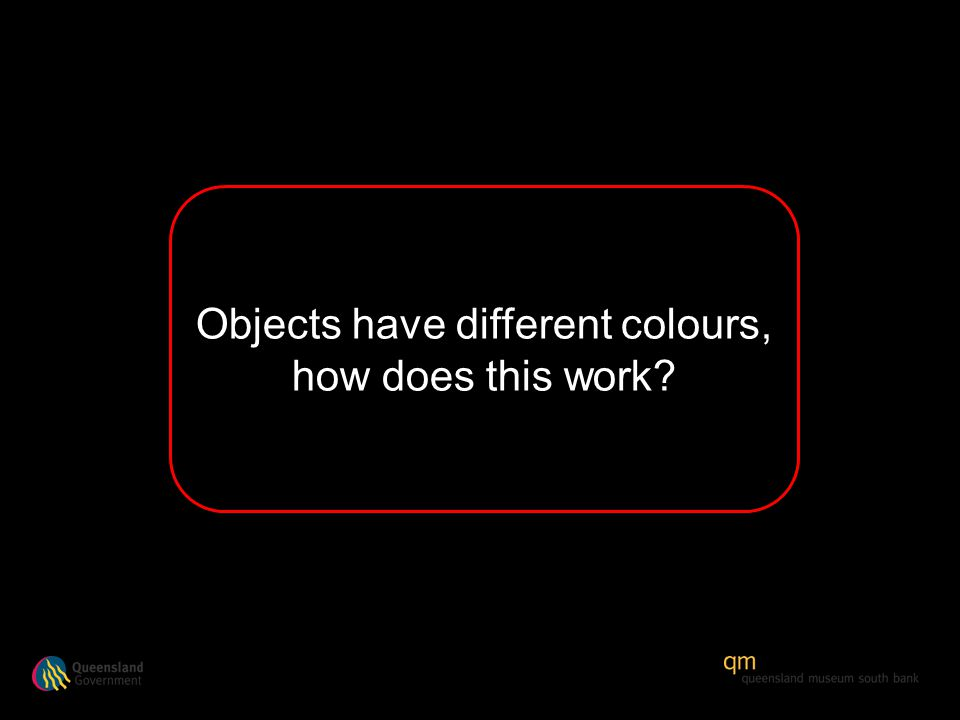 Objects have different colours, how does this work?