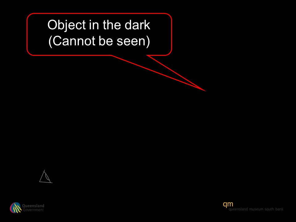 Object in the dark (Cannot be seen)
