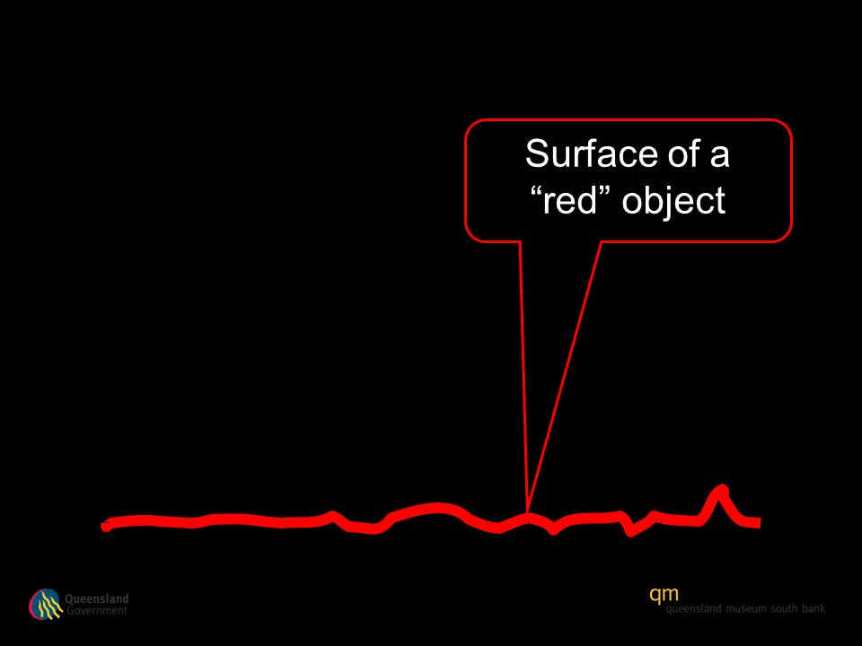 Surface of a red object