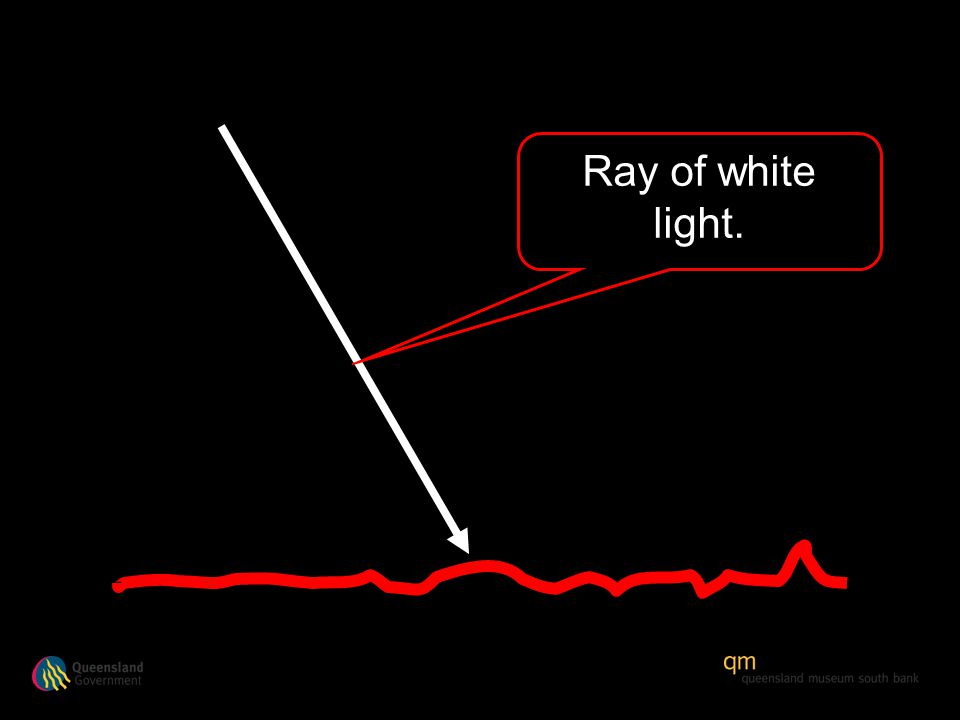 Ray of white light.