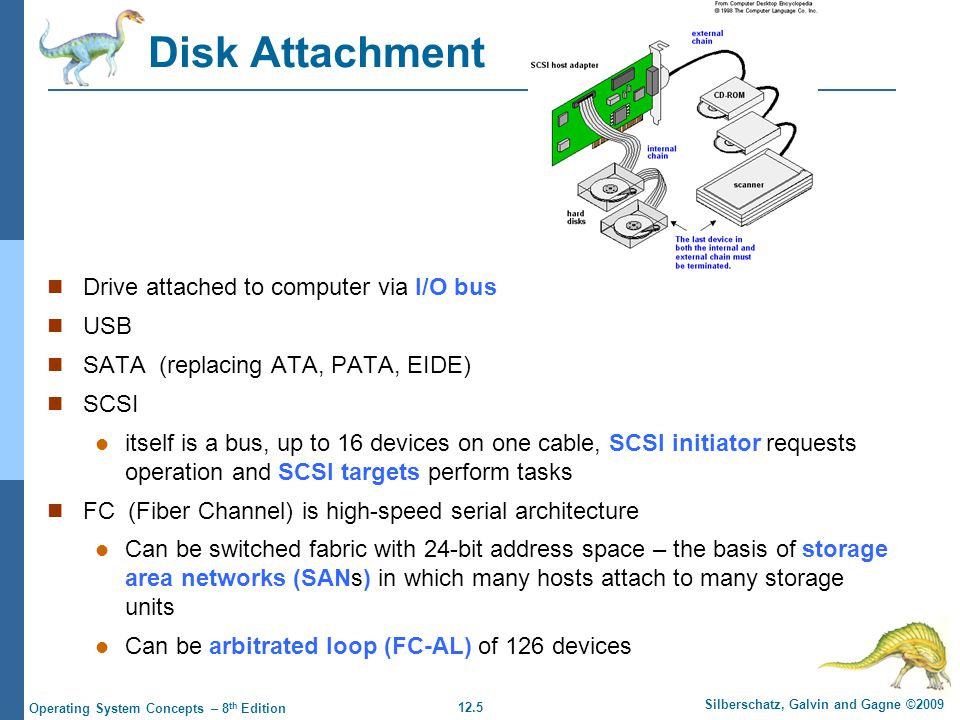 12.16 Silberschatz, Galvin and Gagne ©2009 Operating System Concepts – 8 th Edition SCAN: Elevator algorithm The disk arm starts at one end of the disk, and moves toward the other end, servicing requests until it gets to the other end of the disk, where the head movement is reversed and servicing continues.