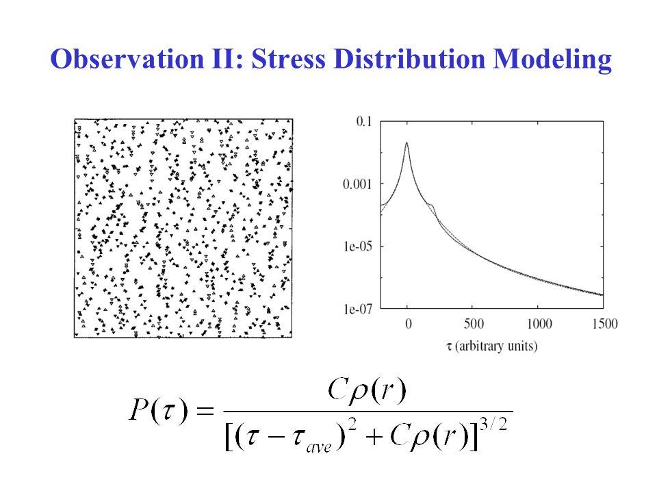 Observation II: Stress Distribution Modeling