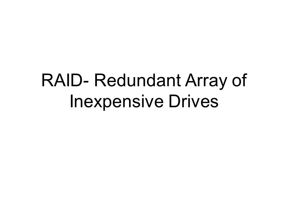RAID 3 Use RAID 0 in byte level Block distributed on several disks Has parity for each block to check read/write parity stored in a separate disk Min 3 disks Good for high throughput applications (e.g.