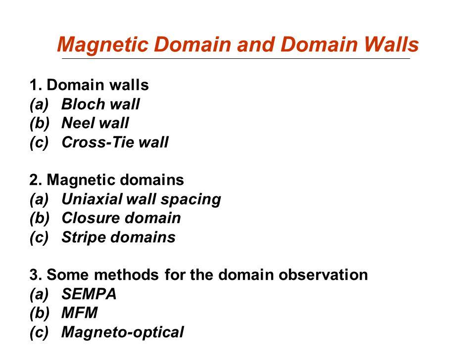 Relevant Energy Densities Exchange energy Magnetocrystalline Magnetoelastic Zeeman Magnetostatic
