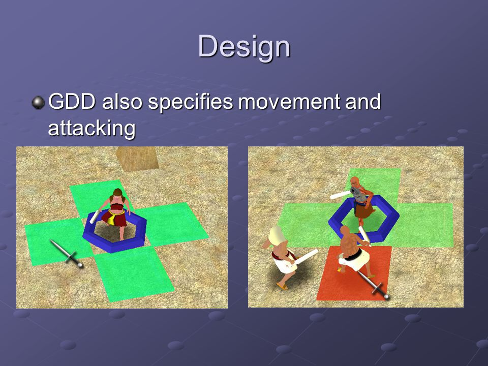 Design GDD also specifies movement and attacking
