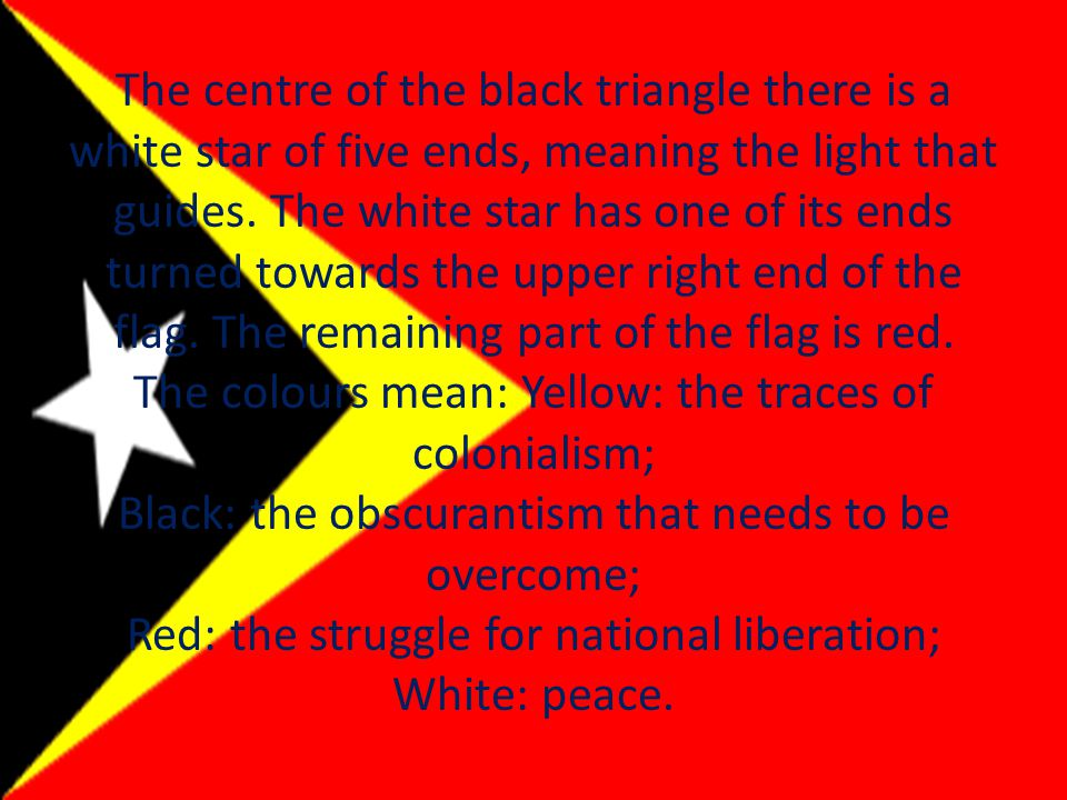 The centre of the black triangle there is a white star of five ends, meaning the light that guides.