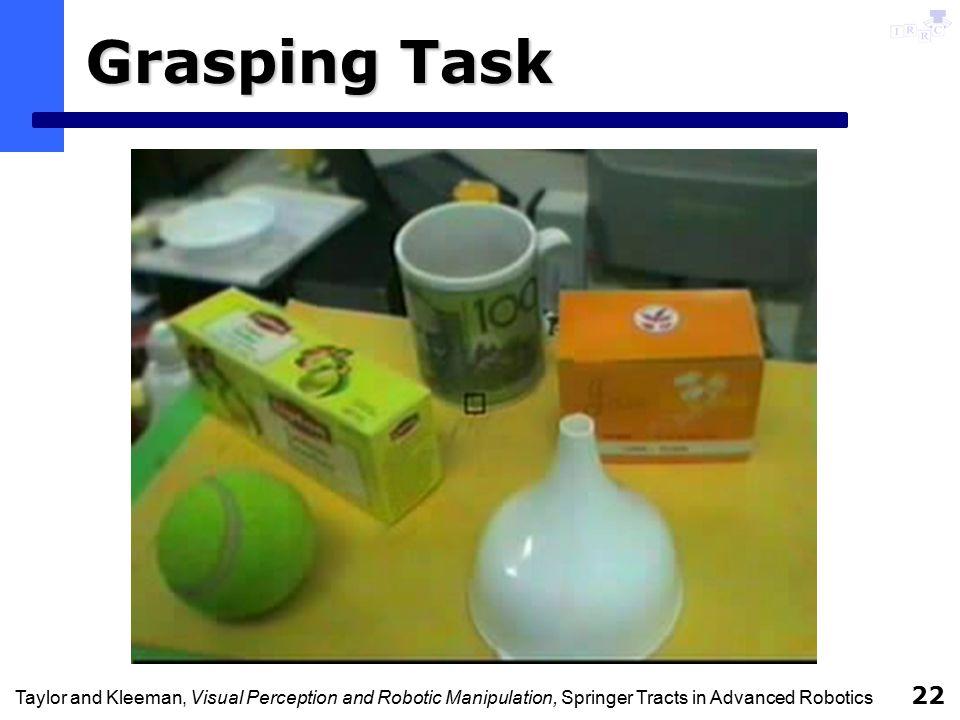 Taylor and Kleeman, Visual Perception and Robotic Manipulation, Springer Tracts in Advanced Robotics 22 Grasping Task