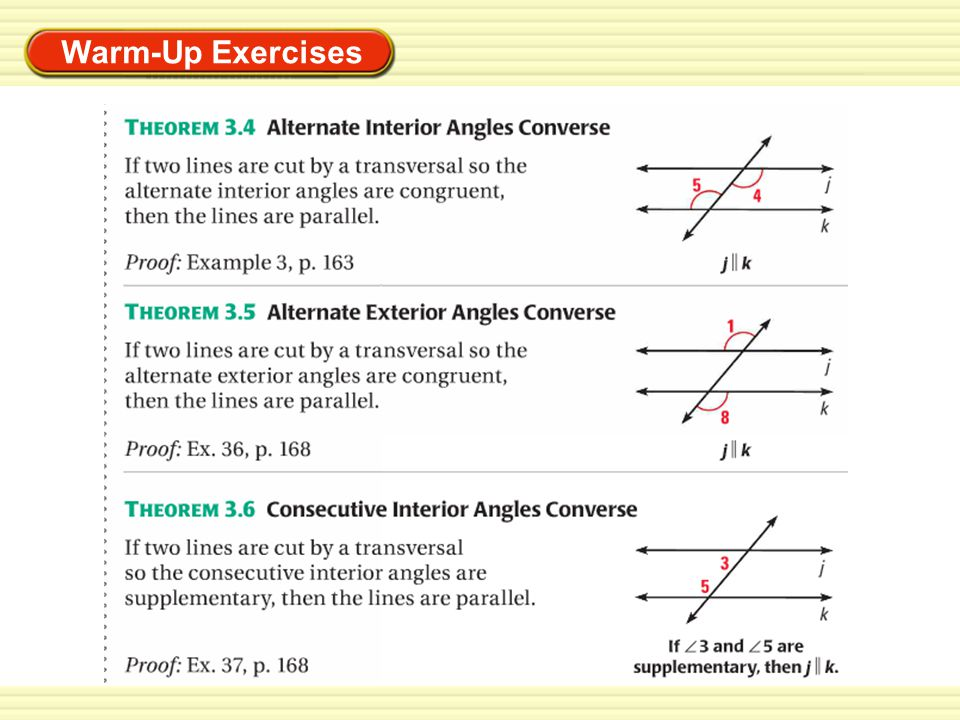 EXAMPLE 1 Apply the Corresponding Angles Converse ALGEBRA Find the value of x that makes m n.