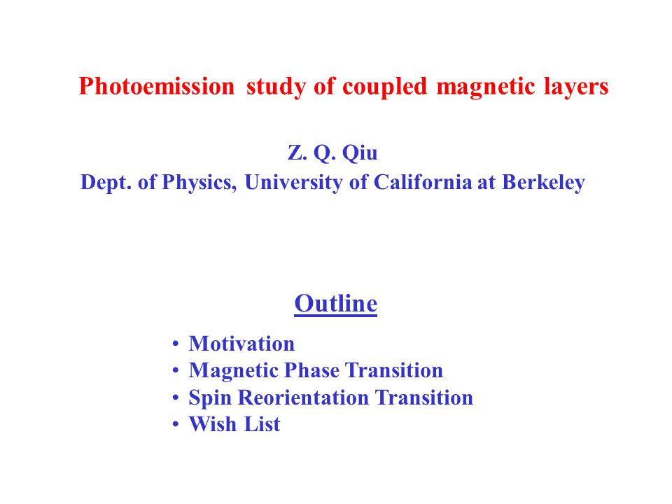Photoemission study of coupled magnetic layers Z. Q.