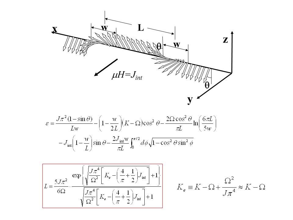 w w L  z y x  H=J int 