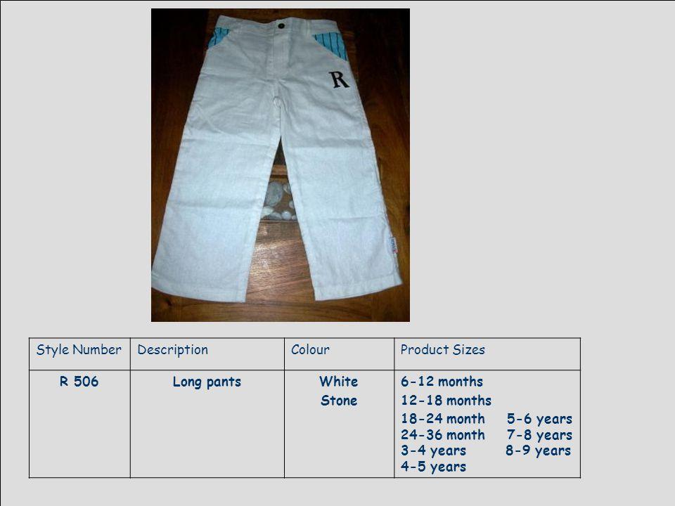 Style NumberDescriptionColourProduct Sizes R 507Stripe waist coatBrown stripe6-12 months 12-18 months 18-24 month 5-6 years 24-36 month 7-8 years 3-4 years 8-9 years 4-5 years