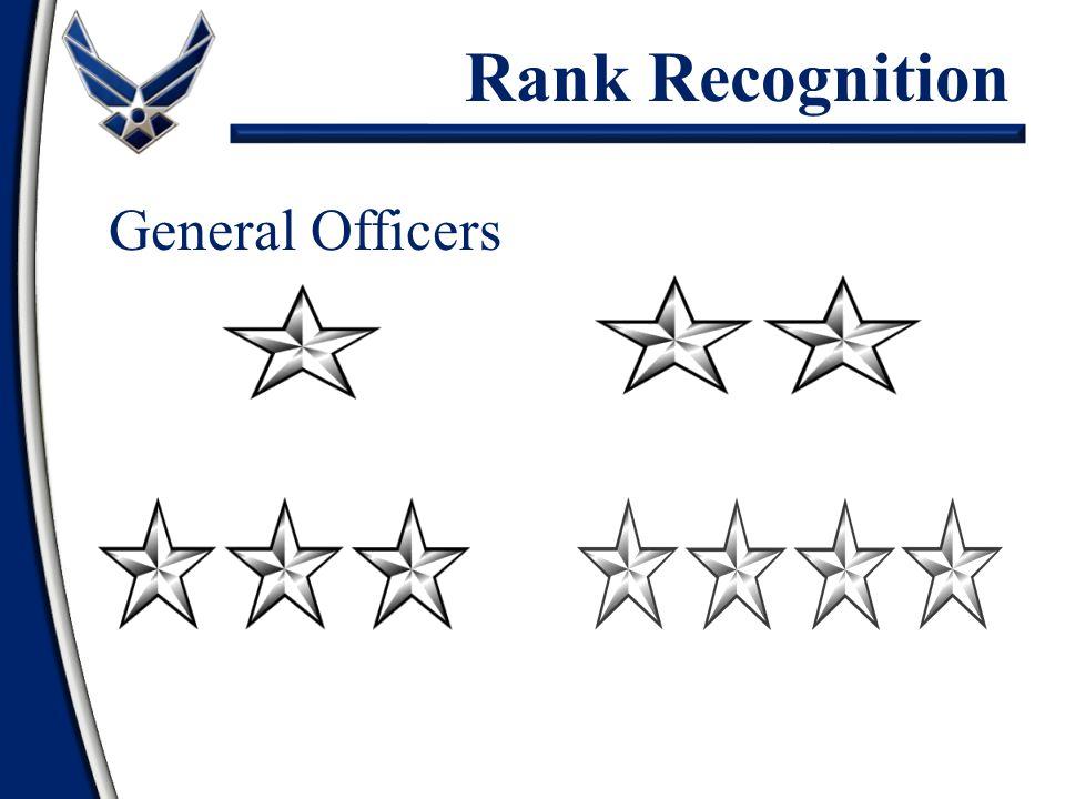 General Officers Brigadier GeneralMajor General Lieutenant General General Rank Recognition
