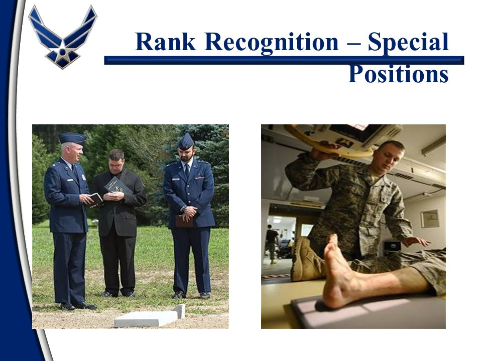 Chaplains and Doctors Rank Recognition – Special Positions