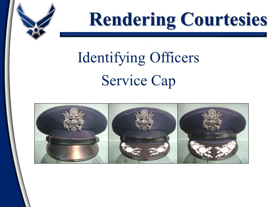 Rendering Courtesies Identifying Officers 2d Lt - Capt Maj - Col All Generals Service Cap