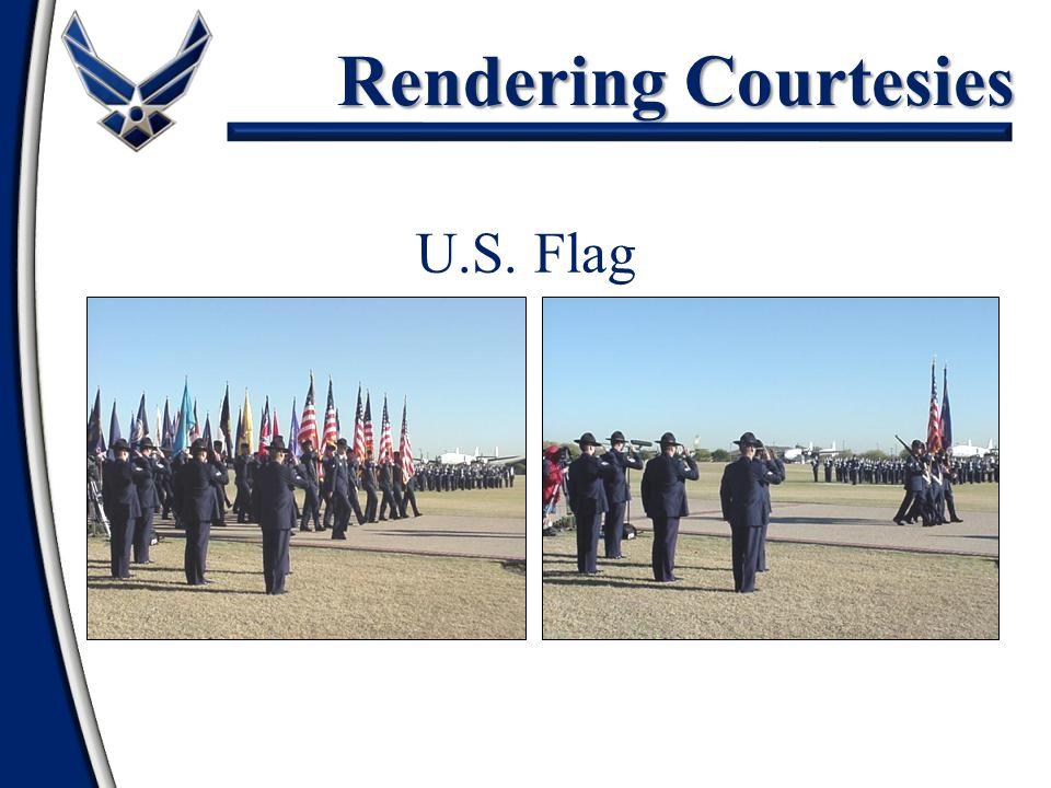 Rendering Courtesies U.S. Flag