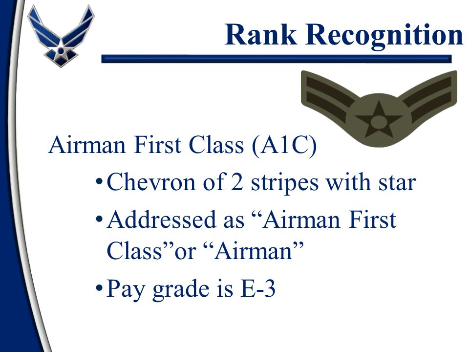Chief Master Sergeant of the Air Force (CMSAF) Rank Recognition – Special Positions