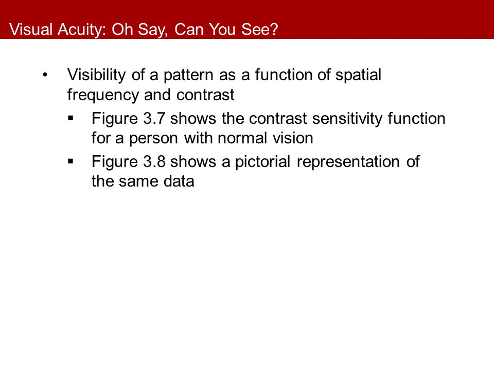 Visual Acuity: Oh Say, Can You See.