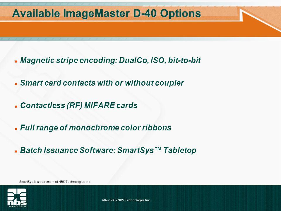 ©Aug-08 - NBS Technologies Inc. Throughput Single-Sided