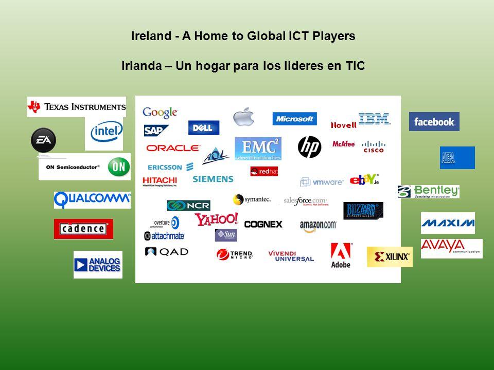 Ireland - A Home to Global ICT Players Irlanda – Un hogar para los lideres en TIC