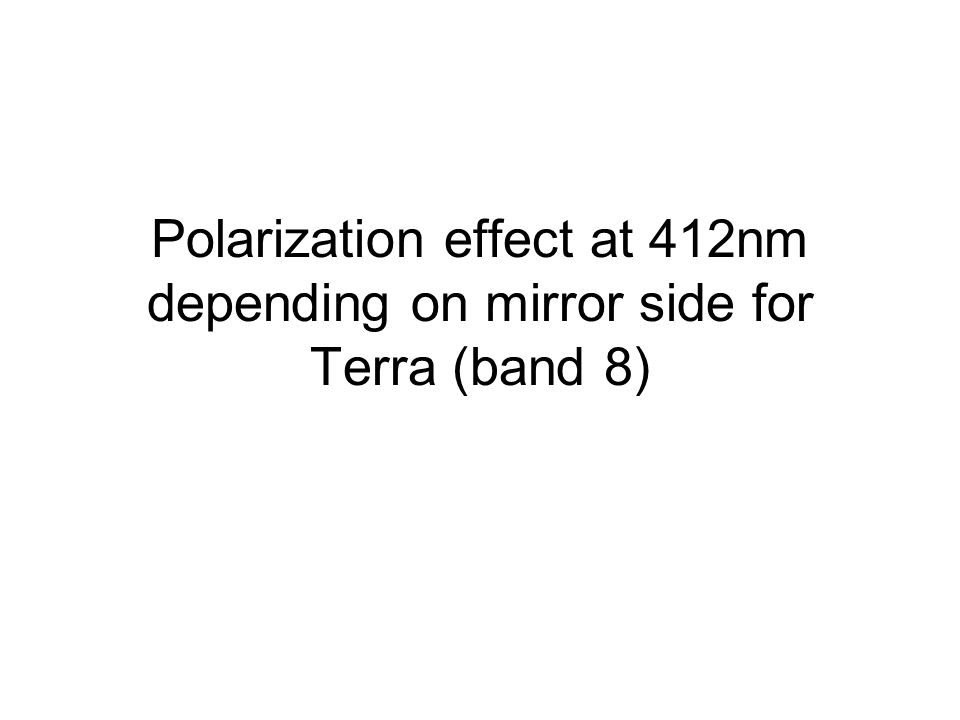 Polarization effect at 412nm depending on mirror side for Terra (band 8)