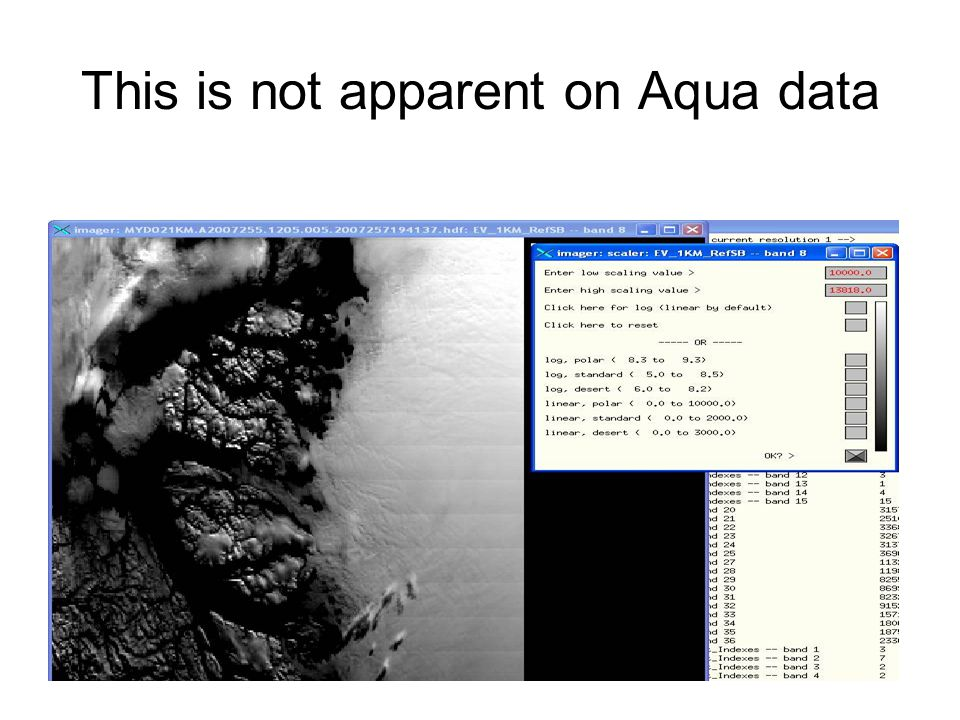 This is not apparent on Aqua data