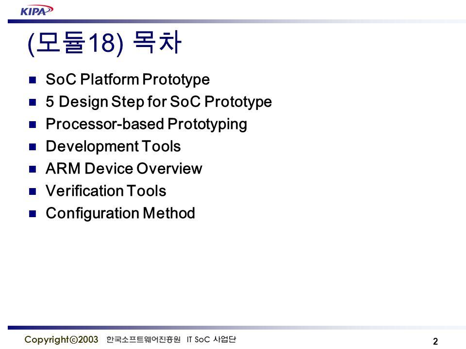 13 Copyright ⓒ 2003 Spec.Hardware USB Universal Serial Port Ethernet 10/100M bps 이더넷 포트 IDE HDD 인터페이스 40 pin 포트 TFT LCD 3.5 인치 칼라 TFT LCD 7 Segment 1EA Text LCD 2 × 20 Text LCD Keypad 1,2,3,4,5,6,7,8,9,0 Key Expansion Port 100 핀 외부카드, AD/DA Port SoC-LiNUX SoC-LiNUX Ver 2.4.19 IP 및 리눅스 BSP Ethernet, USB, Text LCD, TFT LCD, IDE, 7-Segment, Keypad SoC Platform - Hardware