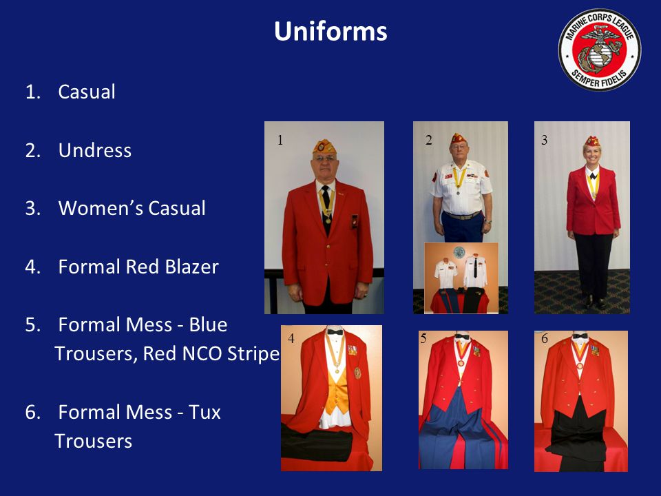 Marine Corps League Professional Development Uniforms, Ribbons and Awards