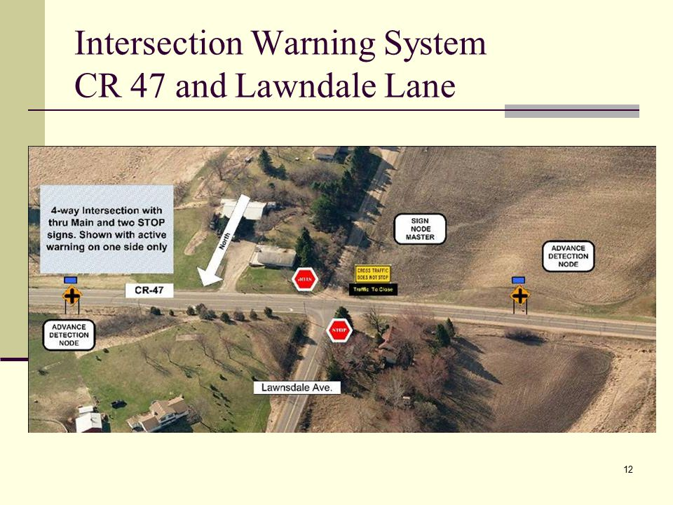 12 Intersection Warning System CR 47 and Lawndale Lane