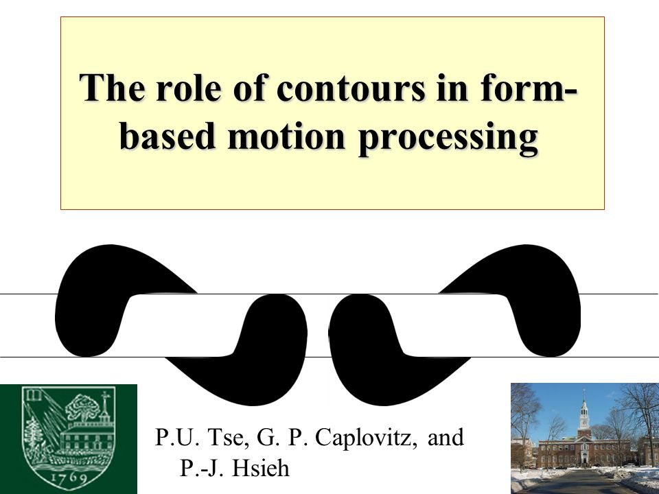 The role of contours in form- based motion processing P.U. Tse, G. P. Caplovitz, and P.-J. Hsieh
