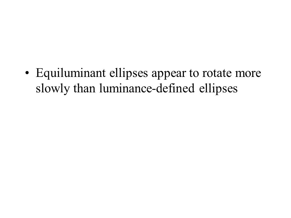 Equiluminant ellipses appear to rotate more slowly than luminance-defined ellipses