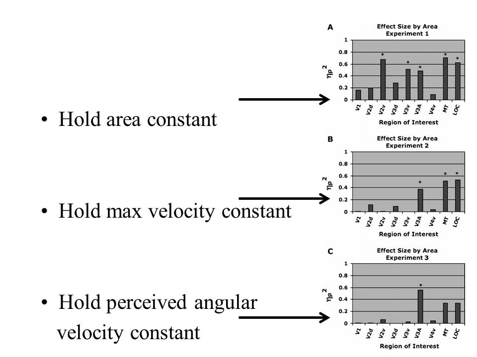 Hold area constant Hold max velocity constant Hold perceived angular velocity constant