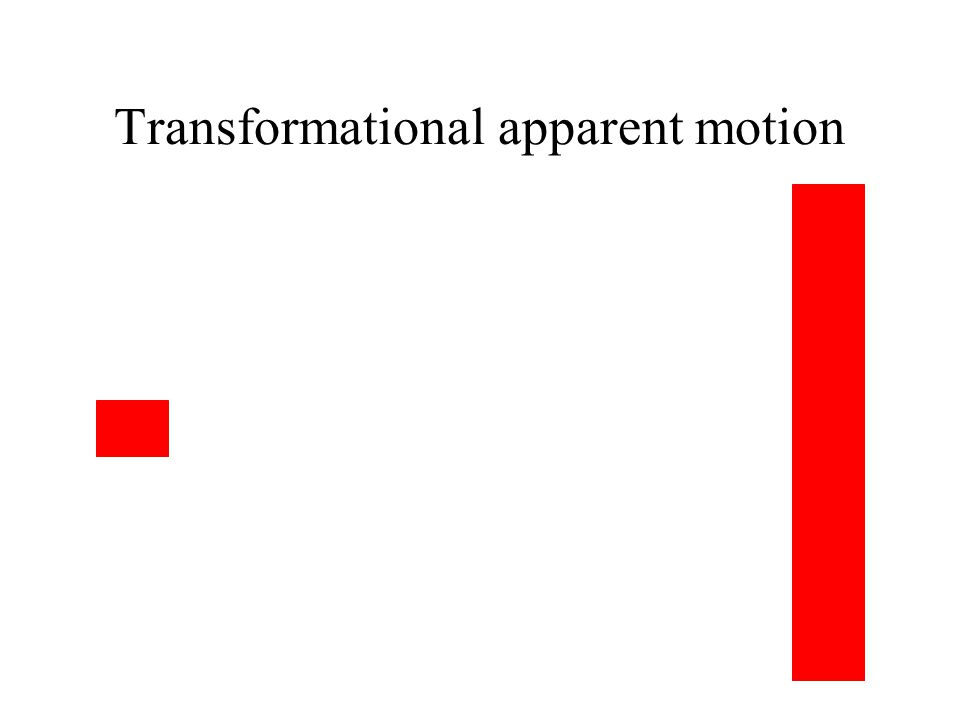 Transformational apparent motion