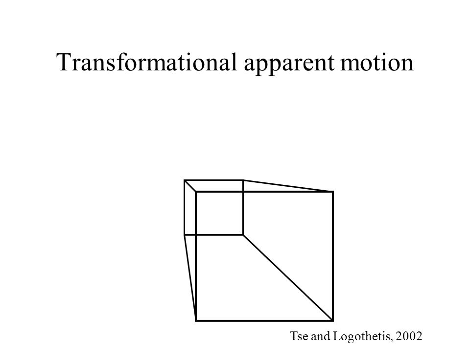 Transformational apparent motion Tse and Logothetis, 2002