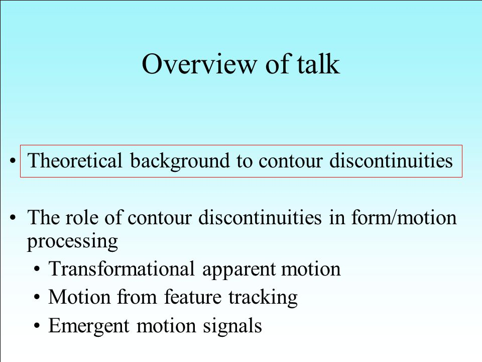Five types of stimuli were used, consisting of two half ellipses joined along their common major axis.