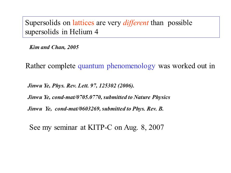 Rather complete quantum phenomenology was worked out in Jinwu Ye, Phys.
