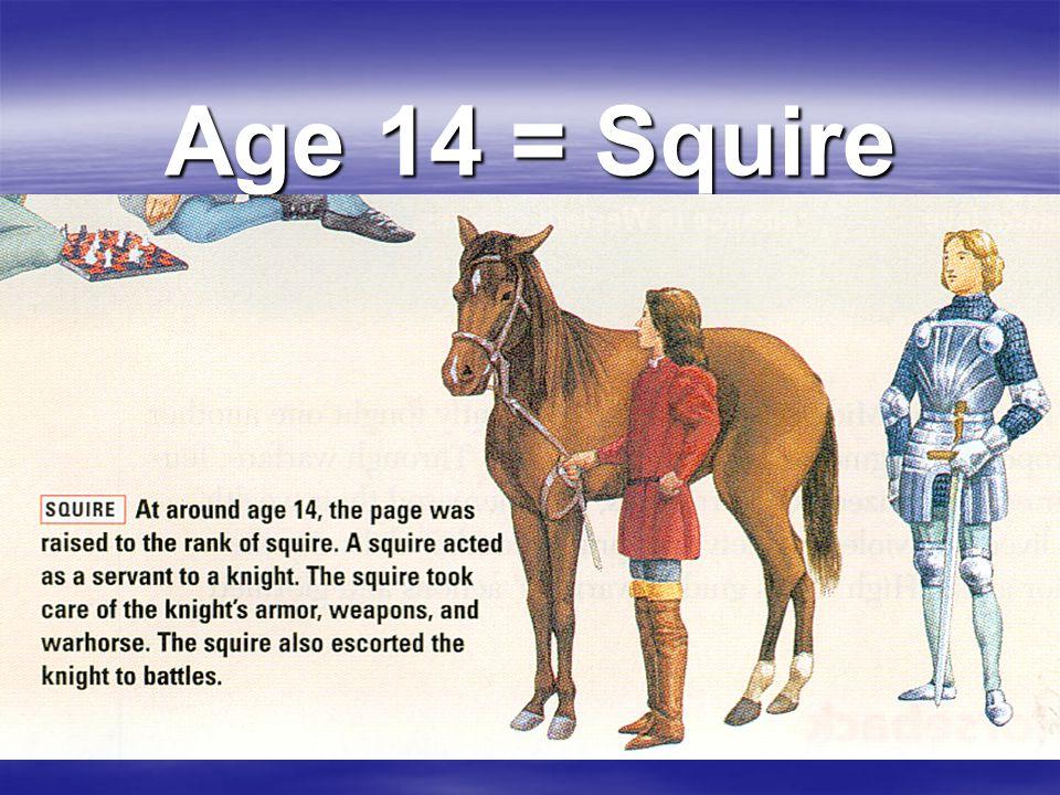 Age 14 = Squire