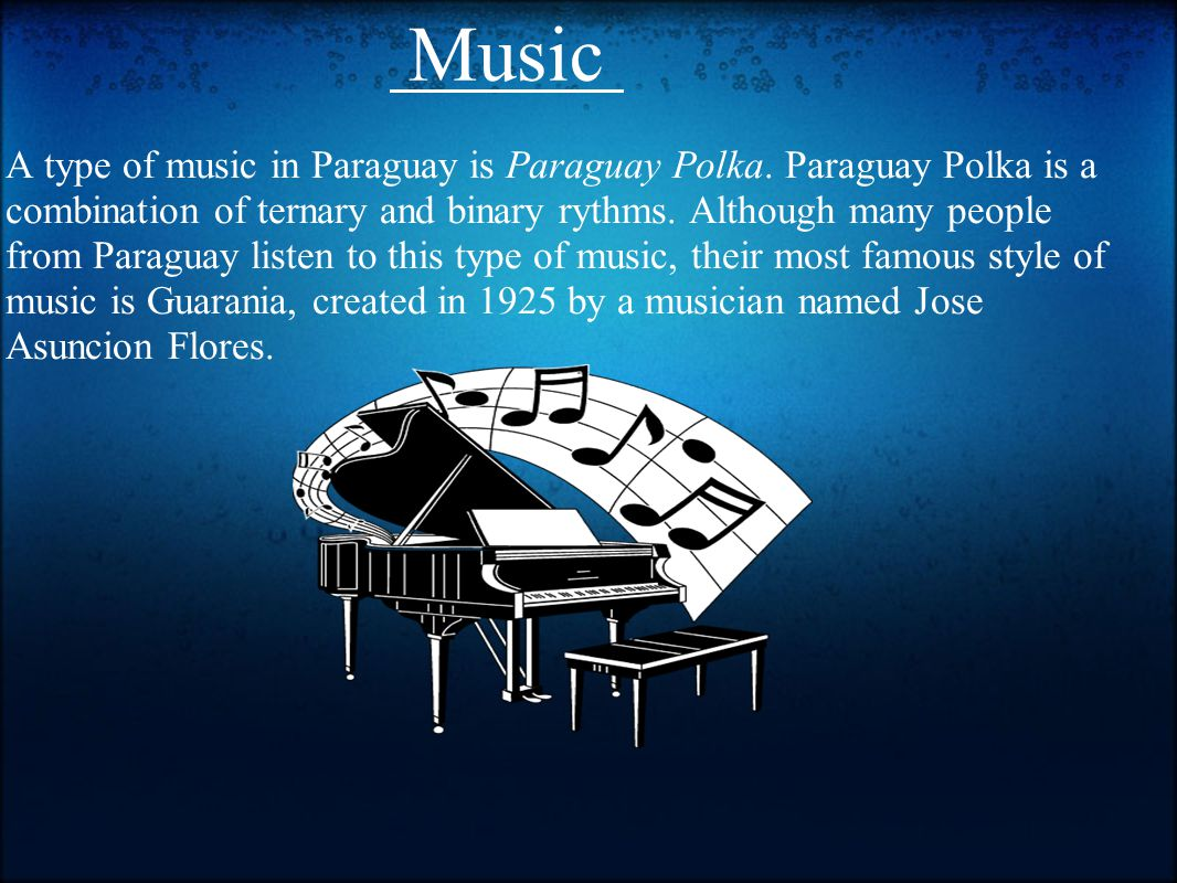 Paraguay information for travelers location in the center of a type of music in paraguay is paraguay polka buycottarizona