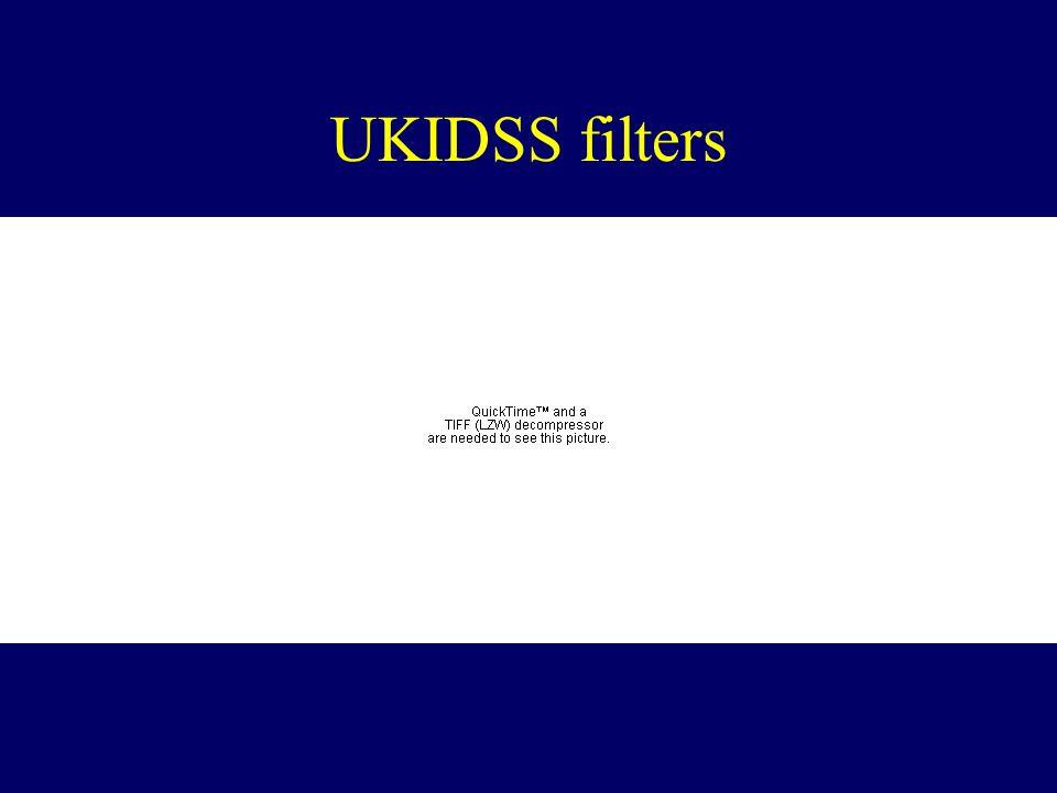 UKIDSS filters