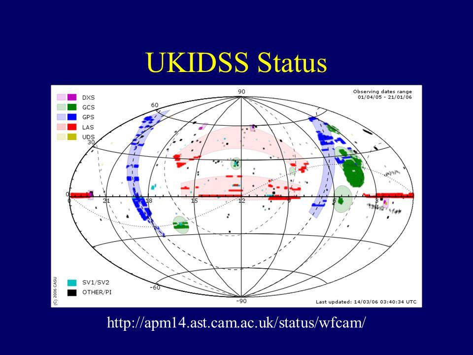 http://apm14.ast.cam.ac.uk/status/wfcam/ UKIDSS Status