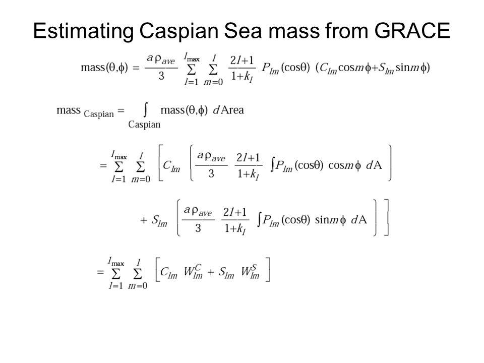Estimating Caspian Sea mass from GRACE