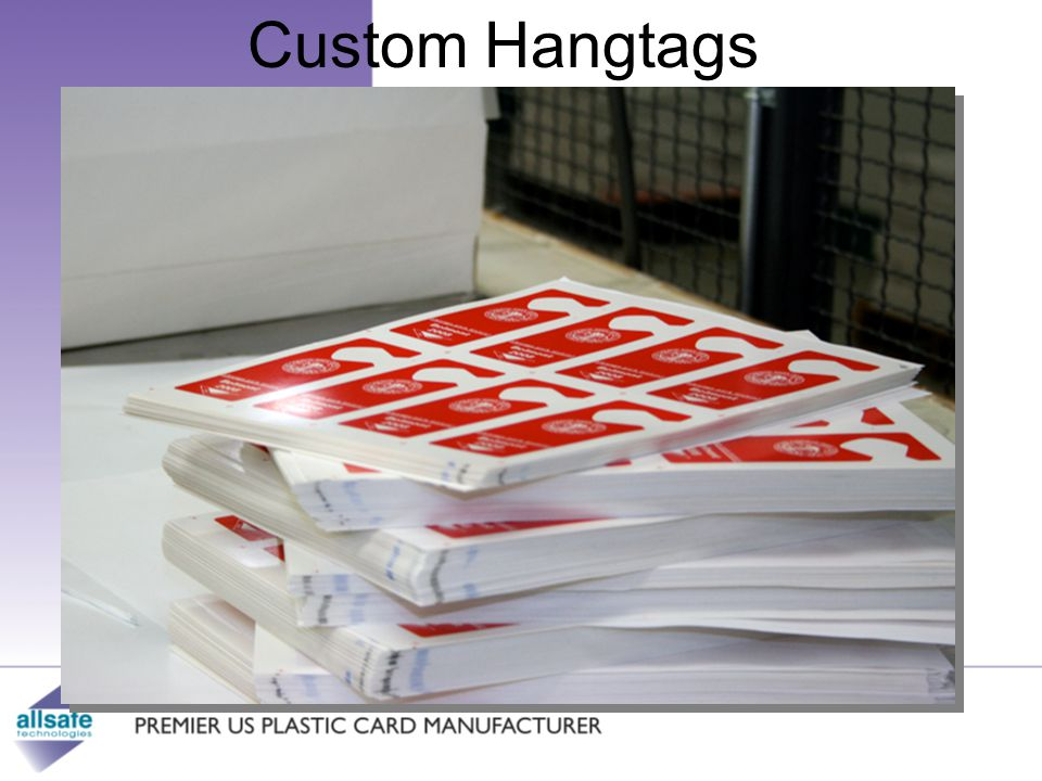 Custom Hangtags Leader in providing superior custom manufactured cards.